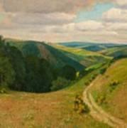 Landscape Near Schleiden In The Eifel Art Print
