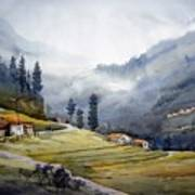 Landscape Of Himalayan Mountain Art Print