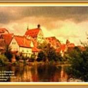 Landscape Scene - Germany. L A With Alt. Decorative Ornate Printed Frame. Art Print