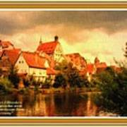 Landscape Scene - Germany L A With Decorative Ornate Printed Frame. Art Print