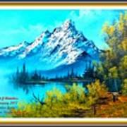 Landscape Scene Near Virginiahurst L A With Alt. Decorative Ornate Printed Frame. Art Print