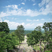 Landscape View From Preah Vihear Mountain In North Cambodia Art Print