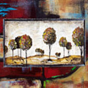 Landscape Vignettes-3 Art Print