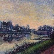 Landscape With A Lock 1885 Art Print