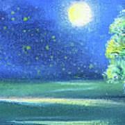 Landscape With A Moon Art Print