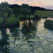 Landscape With A River Art Print