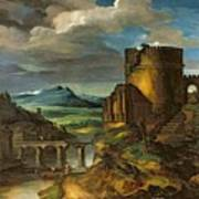 Landscape With A Tomb  Art Print by Theodore Gericault