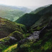 Landscape With Aspect Towards The North Wales Coast. Art Print by Harry Robertson