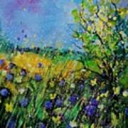 Landscape With Cornflowers 459060 Art Print