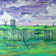 Landscape With Fence Art Print