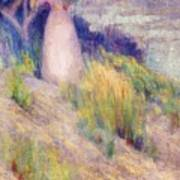 Landscape With Figure In Pink Art Print