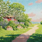 Landscape With Fruit Trees Art Print