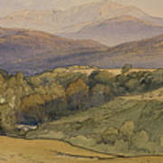 landscape with Lochnagar in the distance Art Print