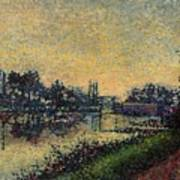 Landscape With Lock 1886 Art Print