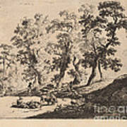Landscape With Shepherds Art Print