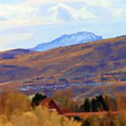 Landscape Wyoming State  Art Print