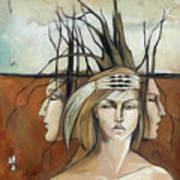 Landscaped Headdress Art Print