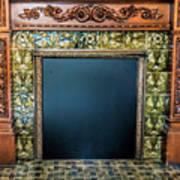 Lane-hooven House Antique Fireplace Art Print