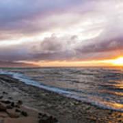Laniakea Beach Sunset Art Print
