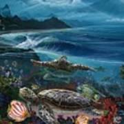 Laniakea Line Up Art Print