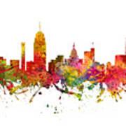 Lansing Cityscape 08 Art Print