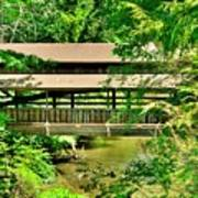Lanterman's Mill Covered Bridge Art Print