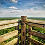 Lapham Peak Wisconsin - View From Wooden Observation Tower Art Print