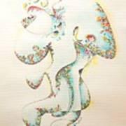 Lapis Lazuli Bejeweled Fertility Goddess Art Print