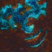 Lapis Lazuli Nebula  Art Print