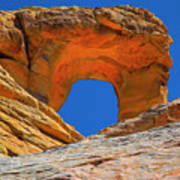 Large Sandstone Arch Valley Of Fire Art Print