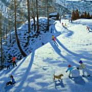 Large Snowball Zermatt Art Print by Andrew Macara