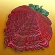 Large Strawberry Scallop Art Print