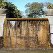 Large Water Fountain Art Print