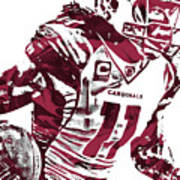 Larry Fitzgerald Arizona Cardinals Pixel Art 1 Art Print