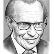 Larry King Art Print