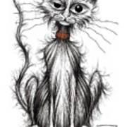 Larry The Cat Art Print
