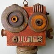 Larry The Robot Art Print by Jen Hardwick