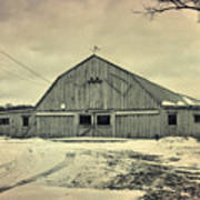 Larsen Road Barn Art Print