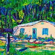 Las Casas De Nuestros Vecinos  Art Print