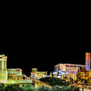 Las Vegas At Night Art Print