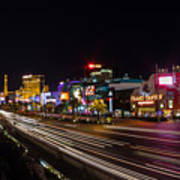 Las Vegas Strip At Night Art Print