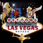 Las Vegas Symbolic Sign Art Print