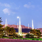 Las Vegas Temple Moon Art Print