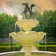 Lasdon Fountain Garden Art Print