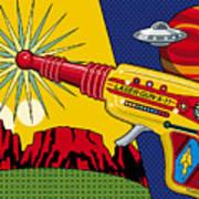 Laser Gun Print by Ron Magnes