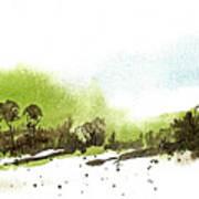 Last Green Of The Season Art Print