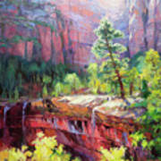 Last Light In Zion Art Print