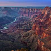 Last Light On The Canyon Art Print