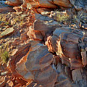 Last Sunlight On Jagged Sandstone In Valley Of Fire Art Print