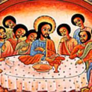Last Supper Angels Art Print